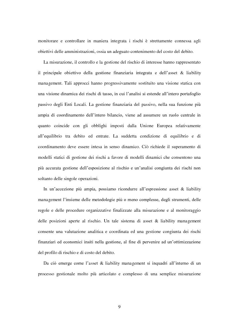 Anteprima della tesi: L'utilizzo dei derivati negli enti locali: opportunità e limiti, Pagina 7