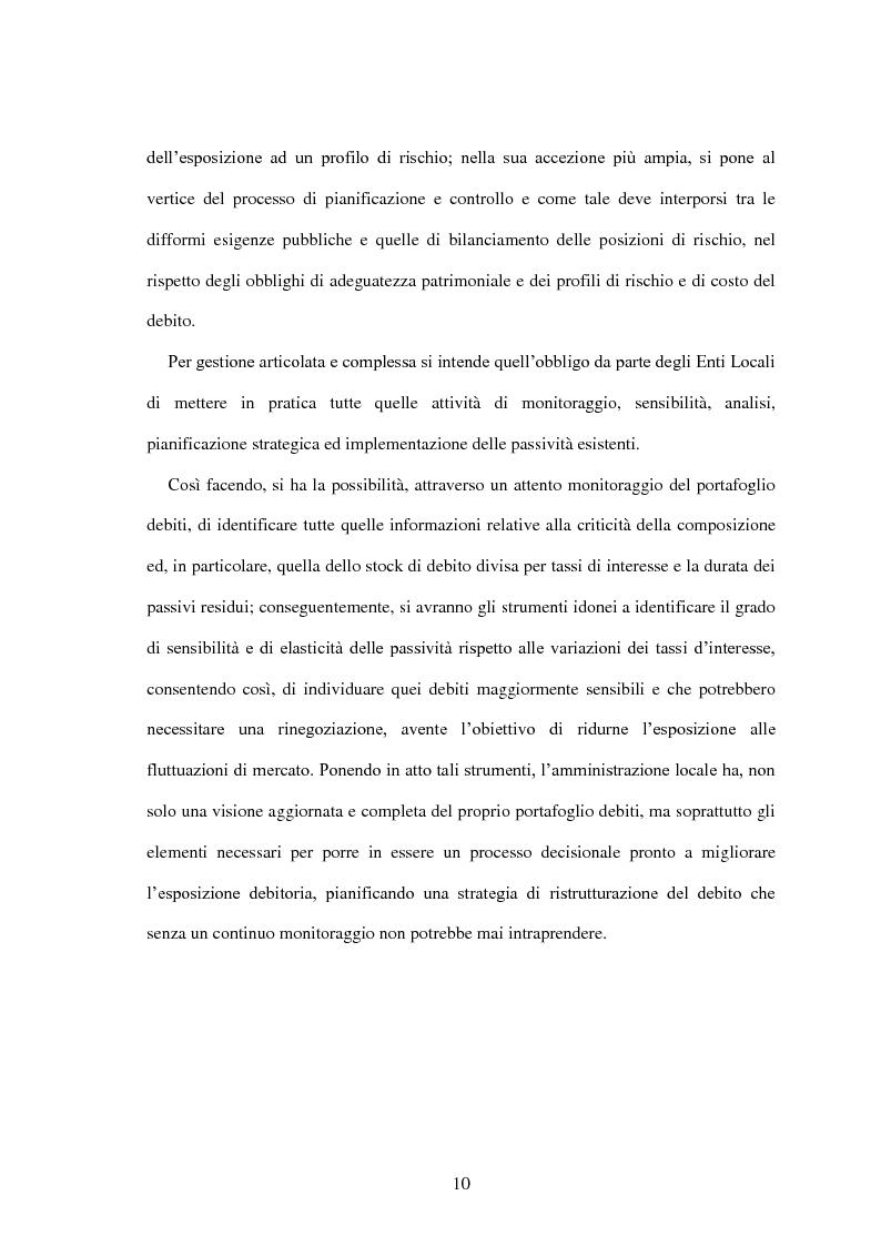 Anteprima della tesi: L'utilizzo dei derivati negli enti locali: opportunità e limiti, Pagina 8