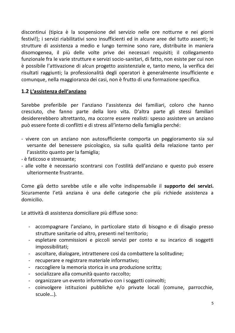 Anteprima della tesi: Stili di vita degli anziani di Capaci. I risultati di un'indagine campionaria., Pagina 2