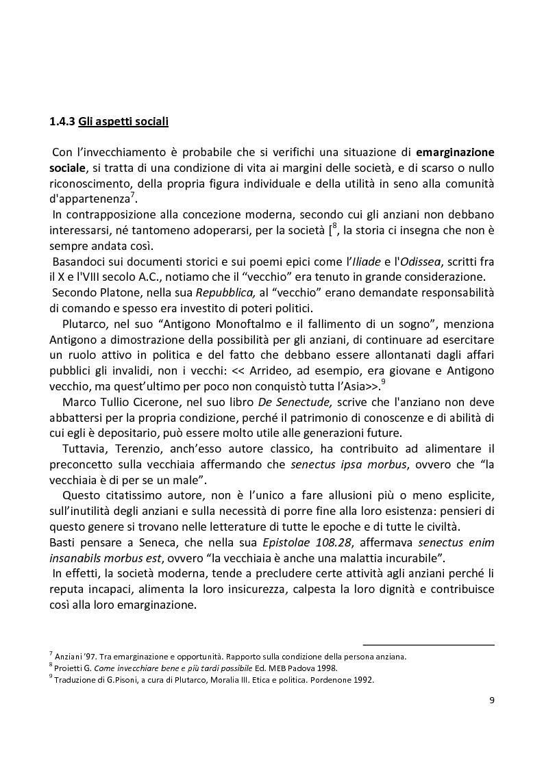 Anteprima della tesi: Stili di vita degli anziani di Capaci. I risultati di un'indagine campionaria., Pagina 6
