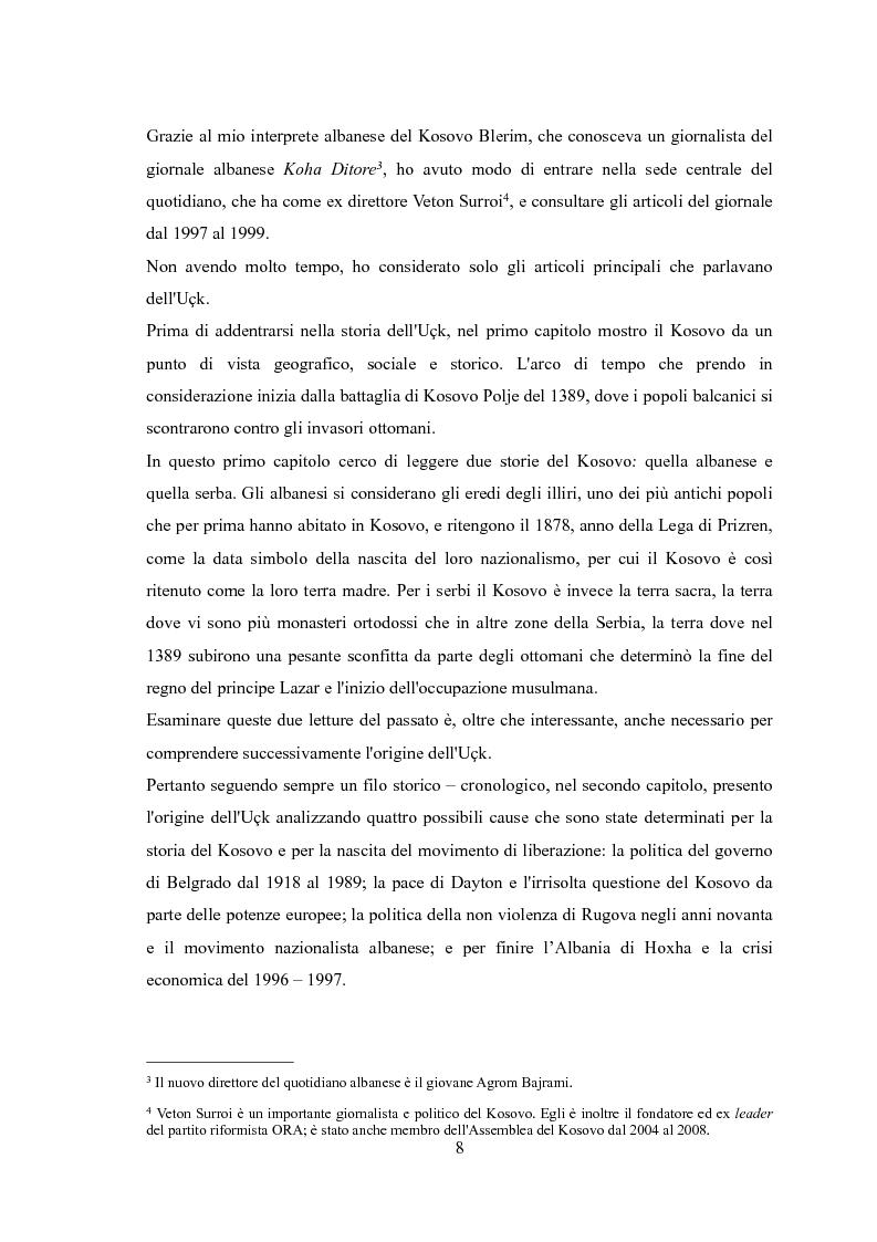 Anteprima della tesi: UçK: l'esercito di liberazione del Kosovo, Pagina 4