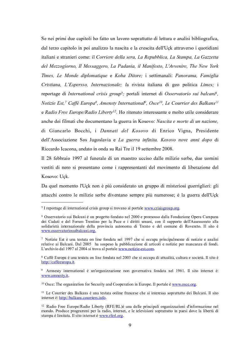Anteprima della tesi: UçK: l'esercito di liberazione del Kosovo, Pagina 5