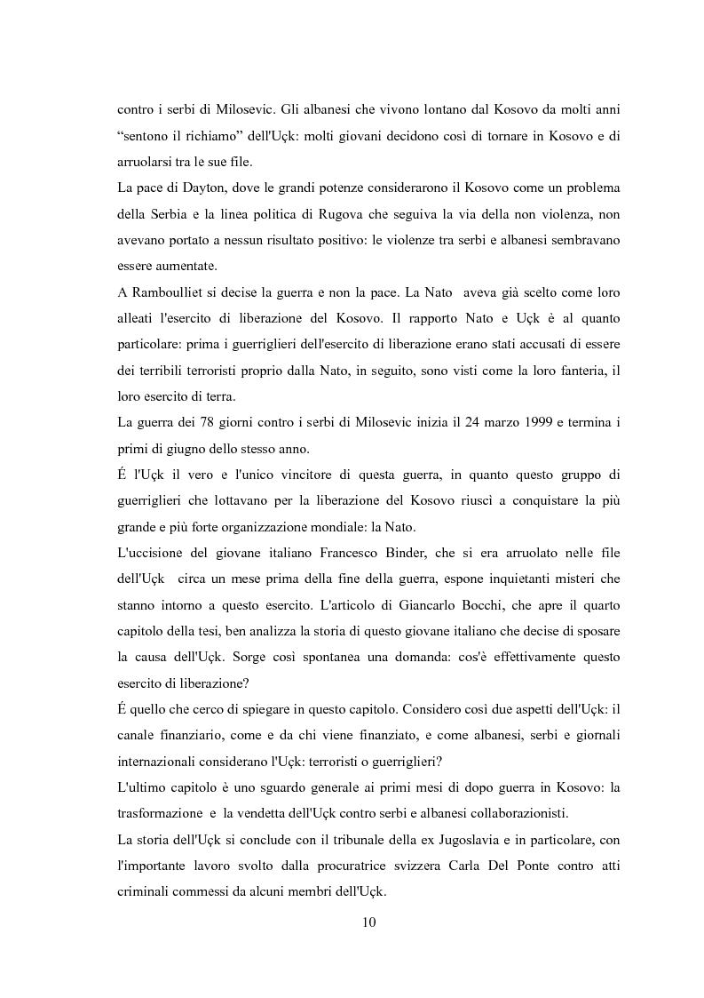 Anteprima della tesi: UçK: l'esercito di liberazione del Kosovo, Pagina 6