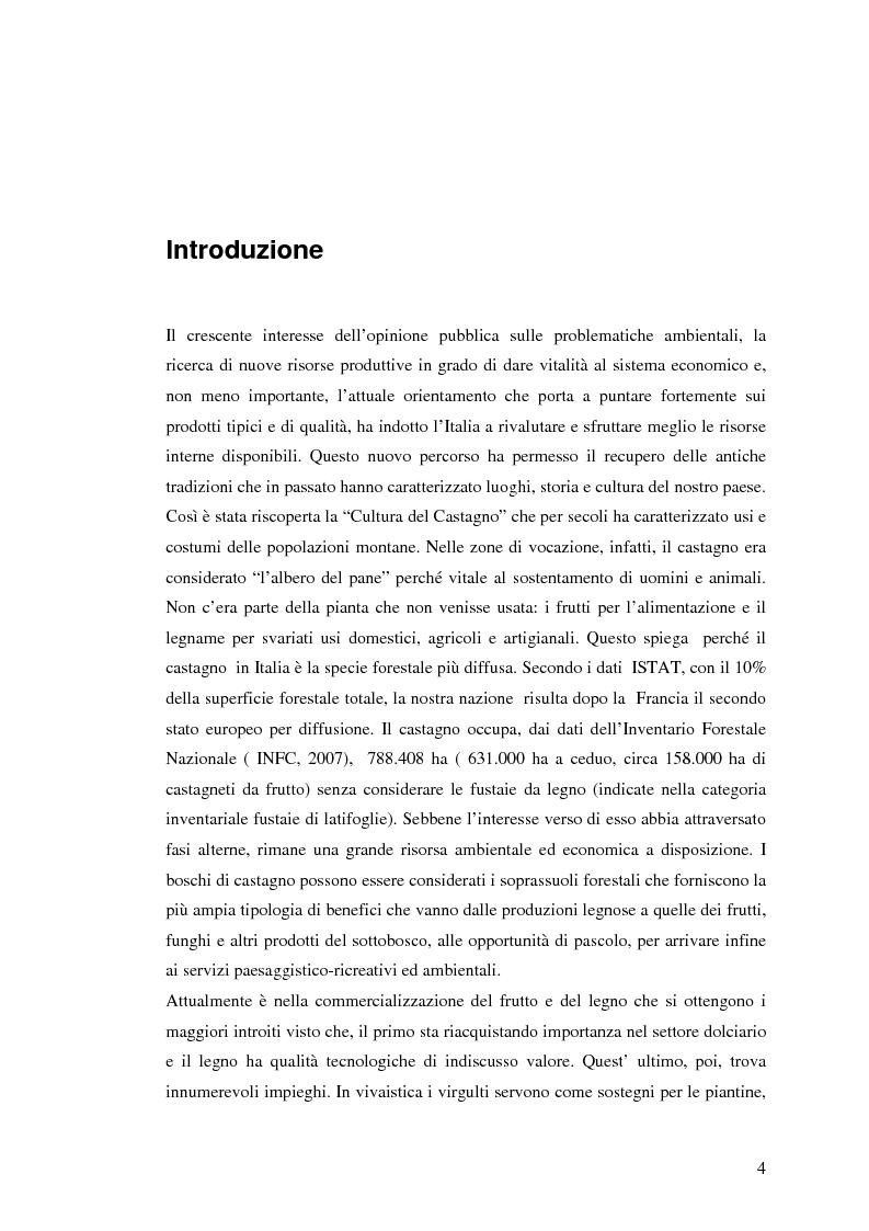 Anteprima della tesi: Qualità del legno di castagno: studio di regole per la selezione del tondame e prove di applicazione su soprassuoli liguri, Pagina 1