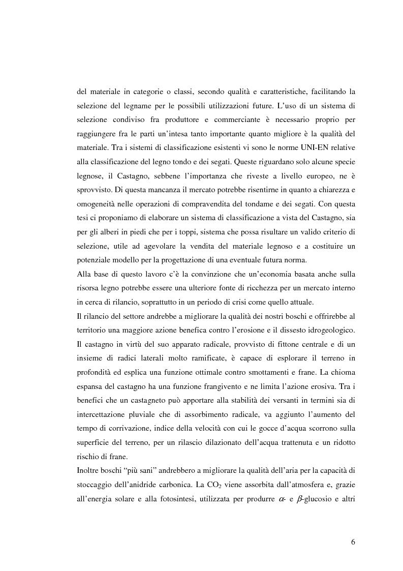 Anteprima della tesi: Qualità del legno di castagno: studio di regole per la selezione del tondame e prove di applicazione su soprassuoli liguri, Pagina 3
