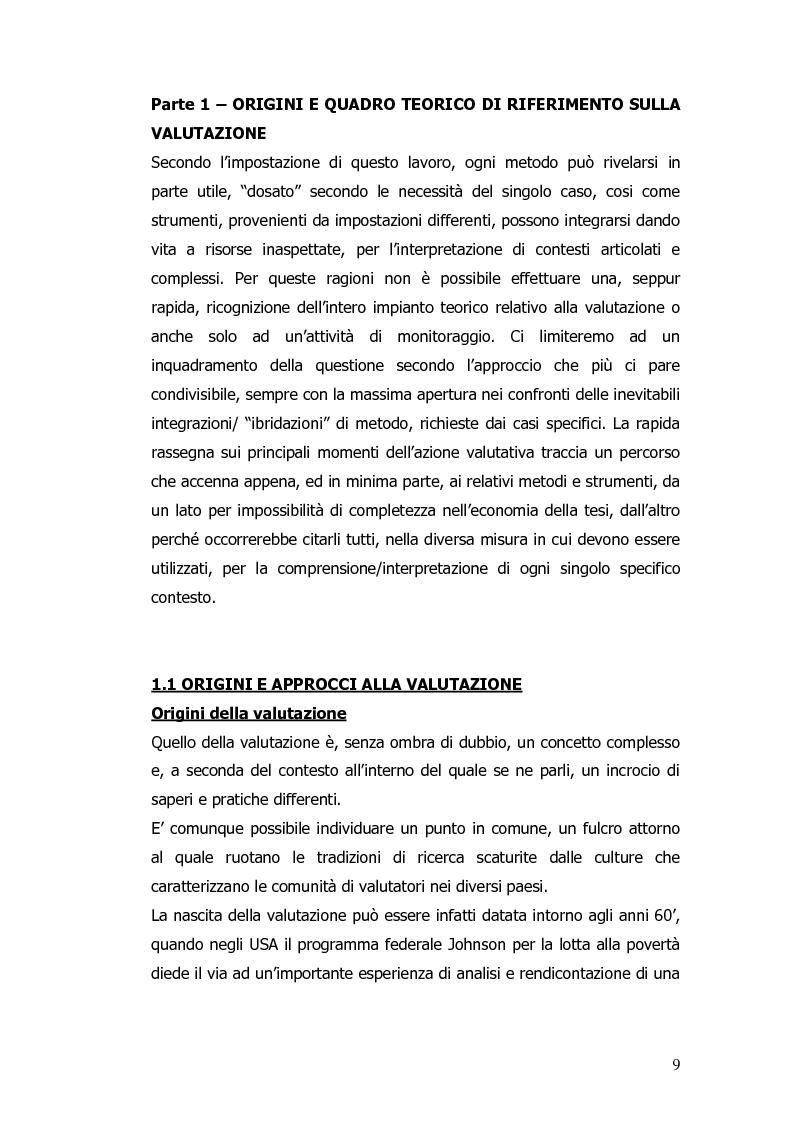 Anteprima della tesi: Valutazione e monitoraggio della formazione. Un caso di studio., Pagina 1