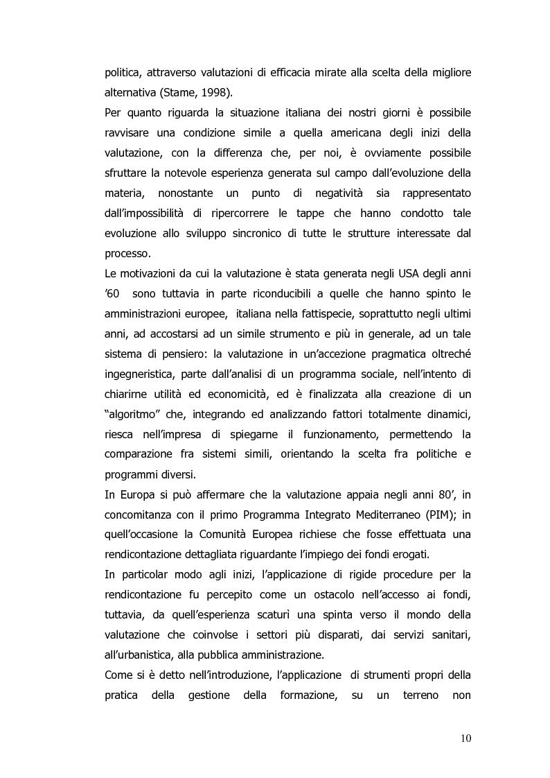 Anteprima della tesi: Valutazione e monitoraggio della formazione. Un caso di studio., Pagina 2