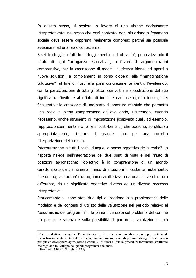 Anteprima della tesi: Valutazione e monitoraggio della formazione. Un caso di studio., Pagina 5