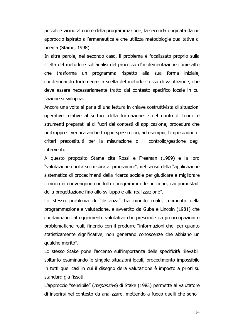 Anteprima della tesi: Valutazione e monitoraggio della formazione. Un caso di studio., Pagina 6