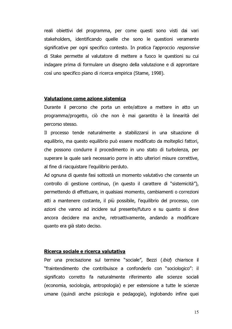 Anteprima della tesi: Valutazione e monitoraggio della formazione. Un caso di studio., Pagina 7