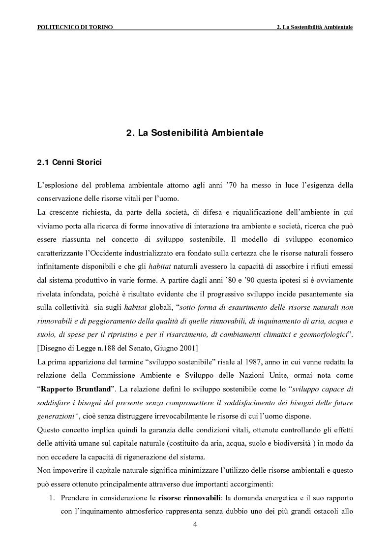Anteprima della tesi: Applicazione della metodologia LCA alla vita di un edificio: analisi dell'efficienza ambientale della fase di demolizione e smaltimento delle macerie, Pagina 4