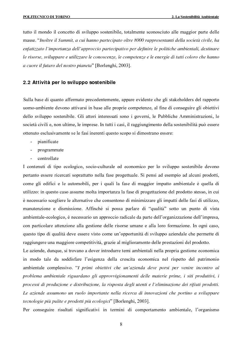 Anteprima della tesi: Applicazione della metodologia LCA alla vita di un edificio: analisi dell'efficienza ambientale della fase di demolizione e smaltimento delle macerie, Pagina 8