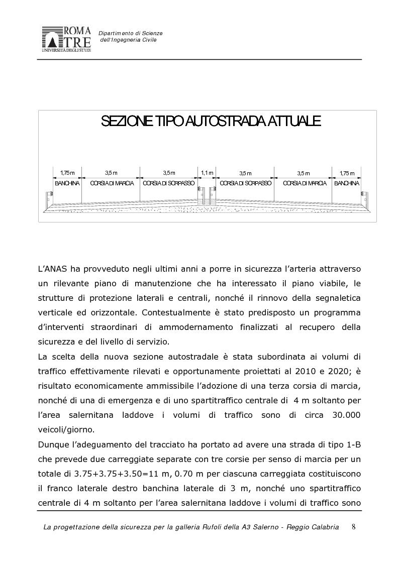 Anteprima della tesi: La progettazione della sicurezza per la galleria Rufoli dell'A3 Salerno-Reggio Calabria, Pagina 6
