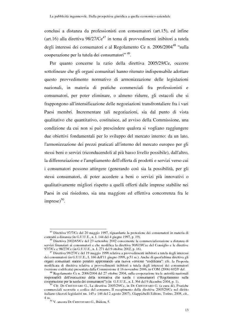 Anteprima della tesi: La pubblicità ingannevole. Dalla prospettiva giuridica a quella economico-aziendale., Pagina 10