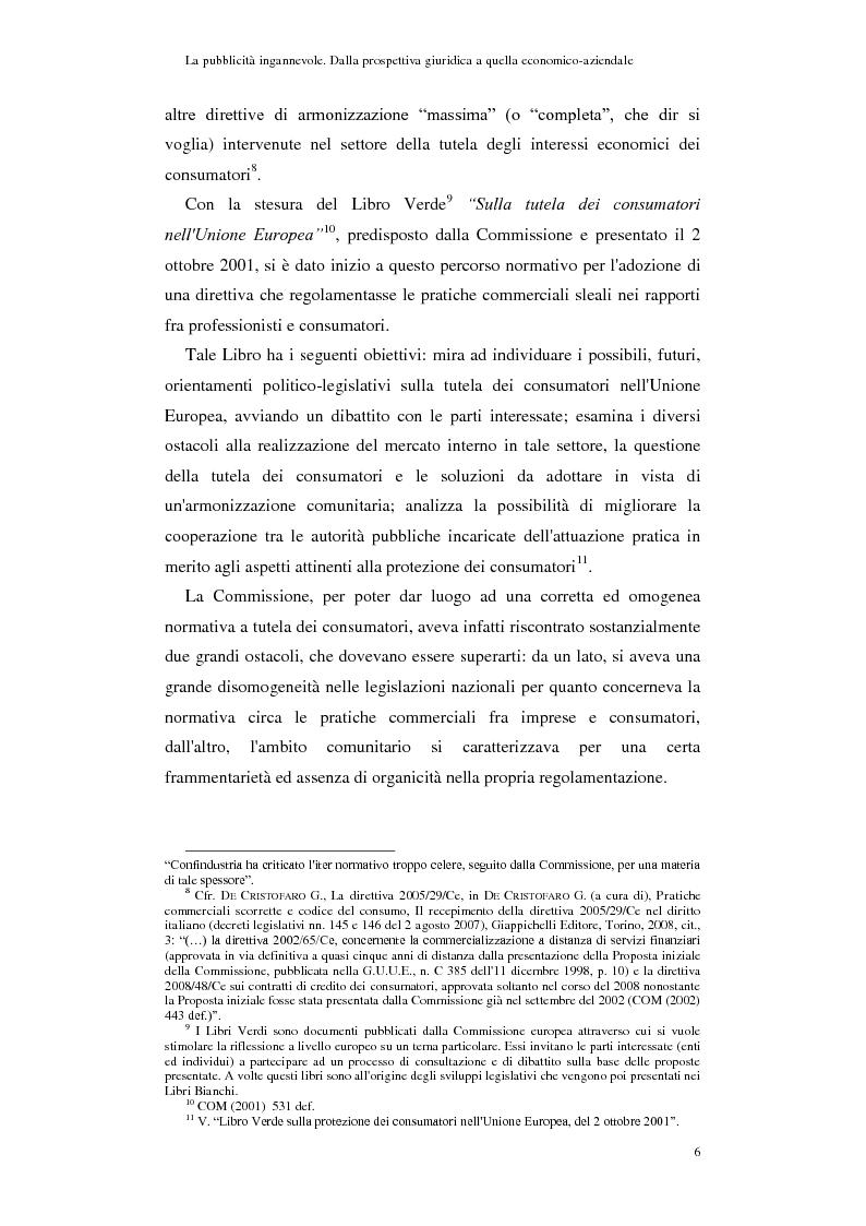 Anteprima della tesi: La pubblicità ingannevole. Dalla prospettiva giuridica a quella economico-aziendale., Pagina 3