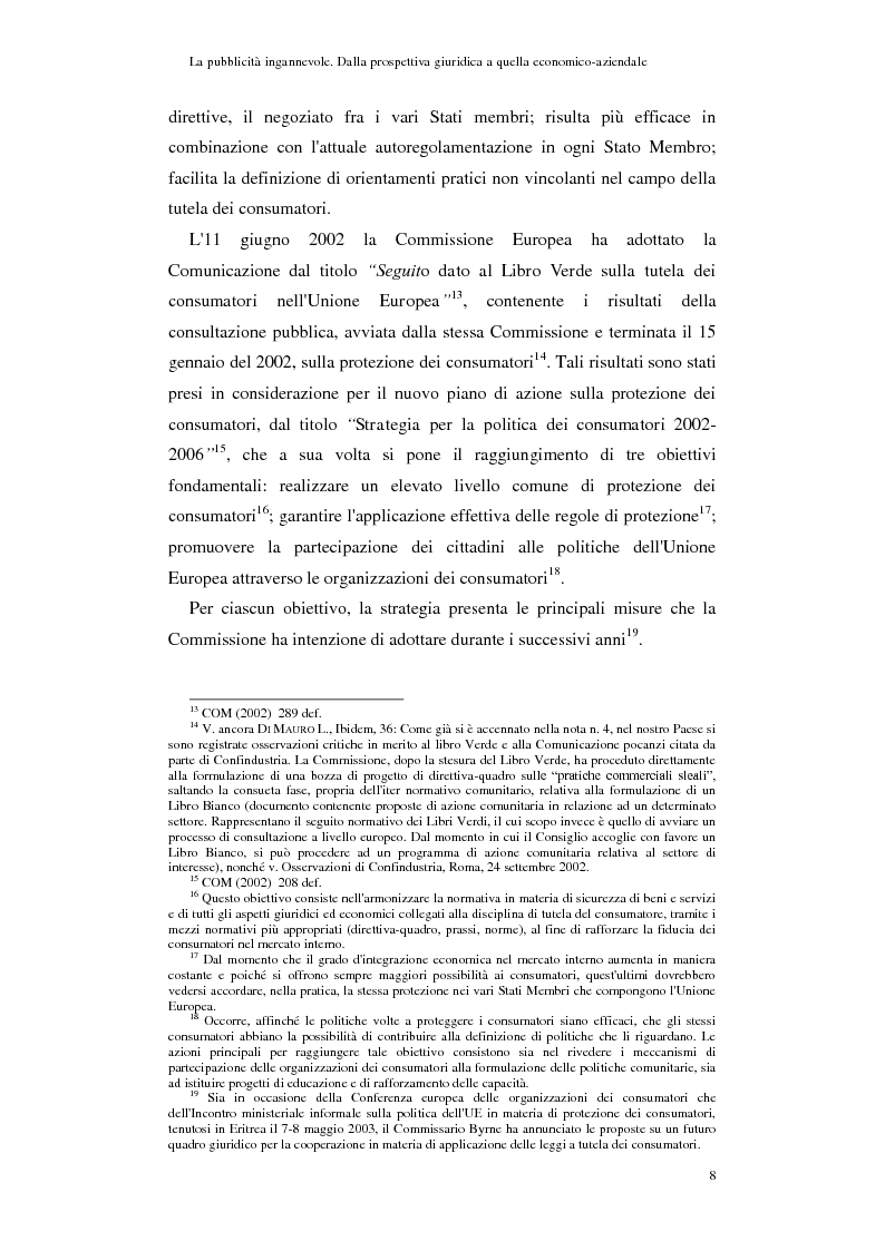 Anteprima della tesi: La pubblicità ingannevole. Dalla prospettiva giuridica a quella economico-aziendale., Pagina 5