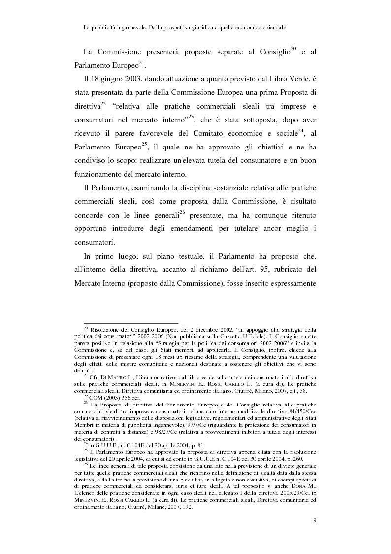 Anteprima della tesi: La pubblicità ingannevole. Dalla prospettiva giuridica a quella economico-aziendale., Pagina 6