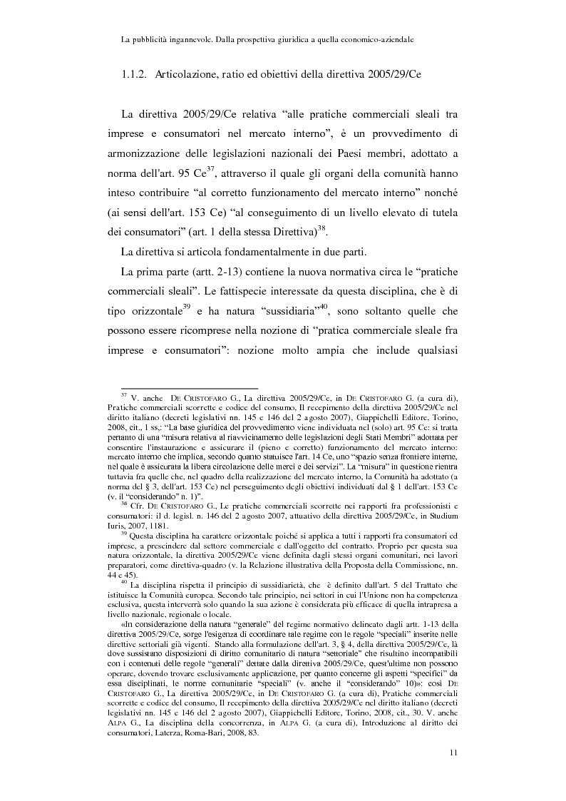 Anteprima della tesi: La pubblicità ingannevole. Dalla prospettiva giuridica a quella economico-aziendale., Pagina 8