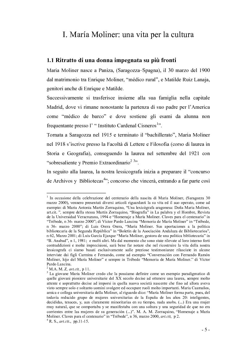 Anteprima della tesi: El diccionario de uso di Maria Moliner. Modifiche e cambiamenti dal 1967 ad oggi., Pagina 1