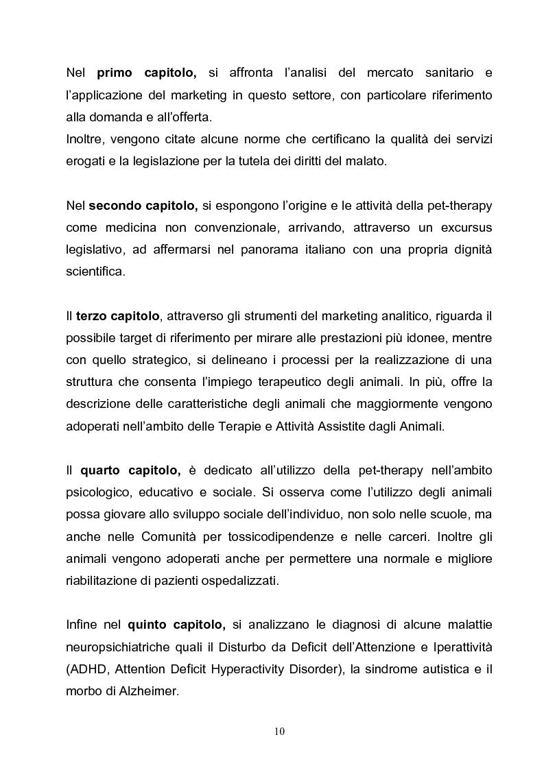 Anteprima della tesi: Marketing e pet-therapy: due discipline a sostegno del benessere individuale e collettivo, Pagina 4
