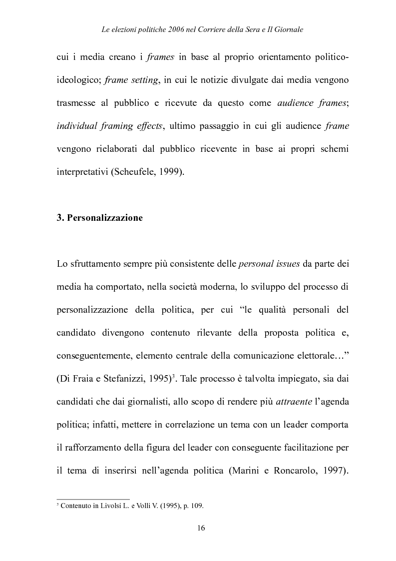 Anteprima della tesi: Le elezioni Politiche 2006 nel Corriere della sera e Il Giornale, Pagina 12