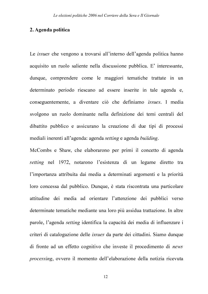 Anteprima della tesi: Le elezioni Politiche 2006 nel Corriere della sera e Il Giornale, Pagina 8