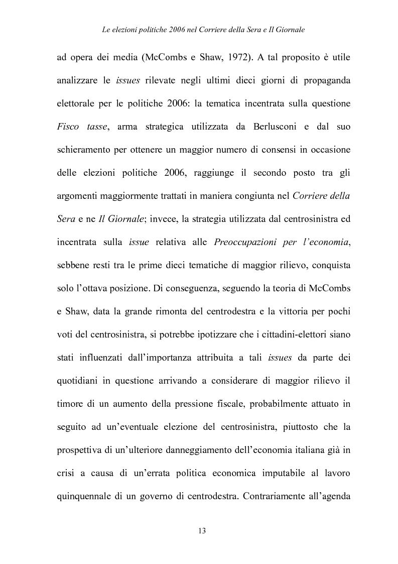 Anteprima della tesi: Le elezioni Politiche 2006 nel Corriere della sera e Il Giornale, Pagina 9