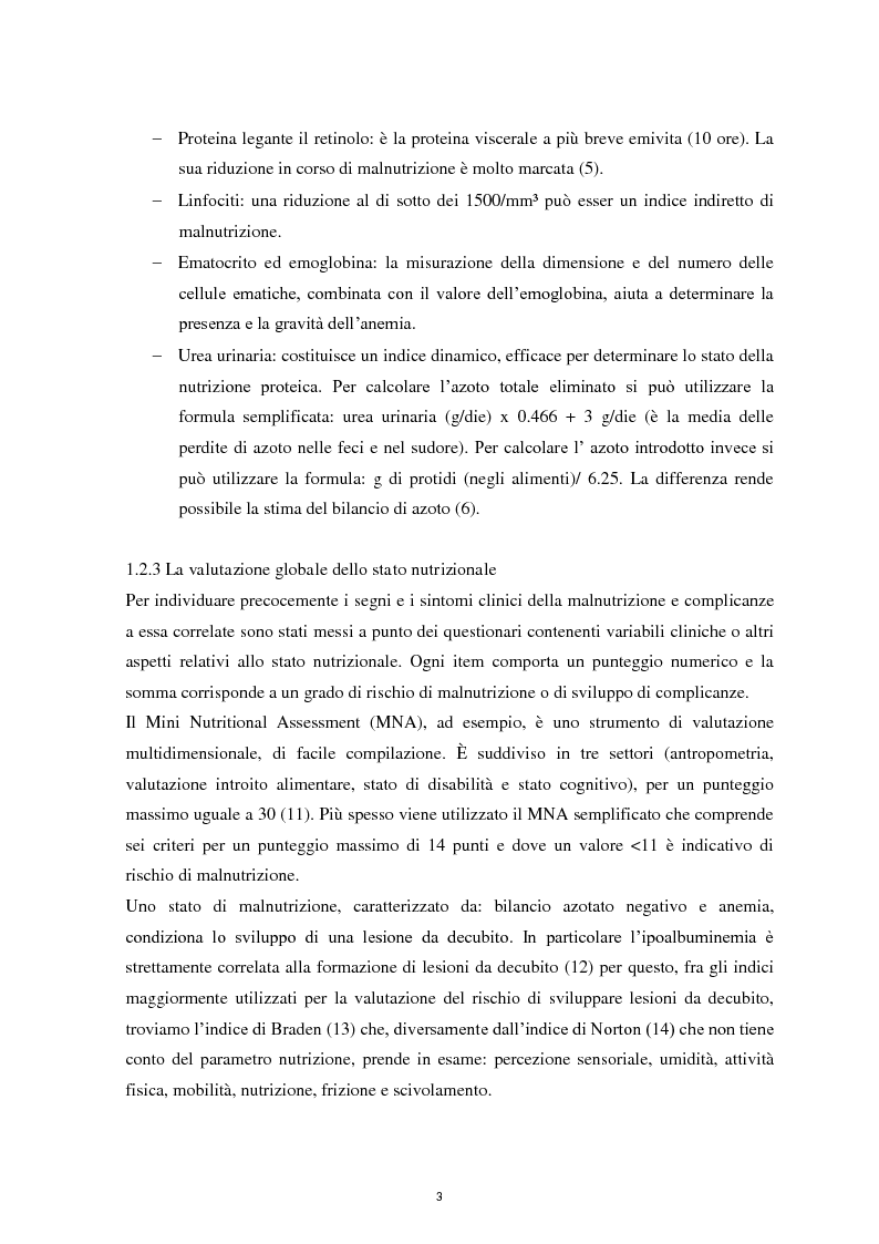 Anteprima della tesi: Il ruolo infermieristico nella gestione della Nutrizione Enterale: indagine sullo stato nutrizionale e protocollo di somministrazione presso l'U.O. di Lungodegenza del P.O. di Camposampiero., Pagina 4