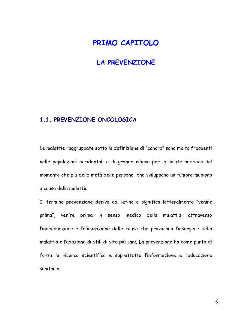 Anteprima della tesi: La mammografia e lo screening - Aspetti tecnico-organizzativi, Pagina 3