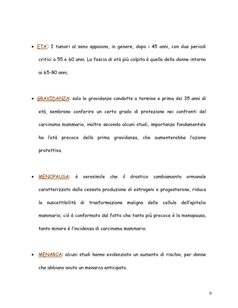 Anteprima della tesi: La mammografia e lo screening - Aspetti tecnico-organizzativi, Pagina 6