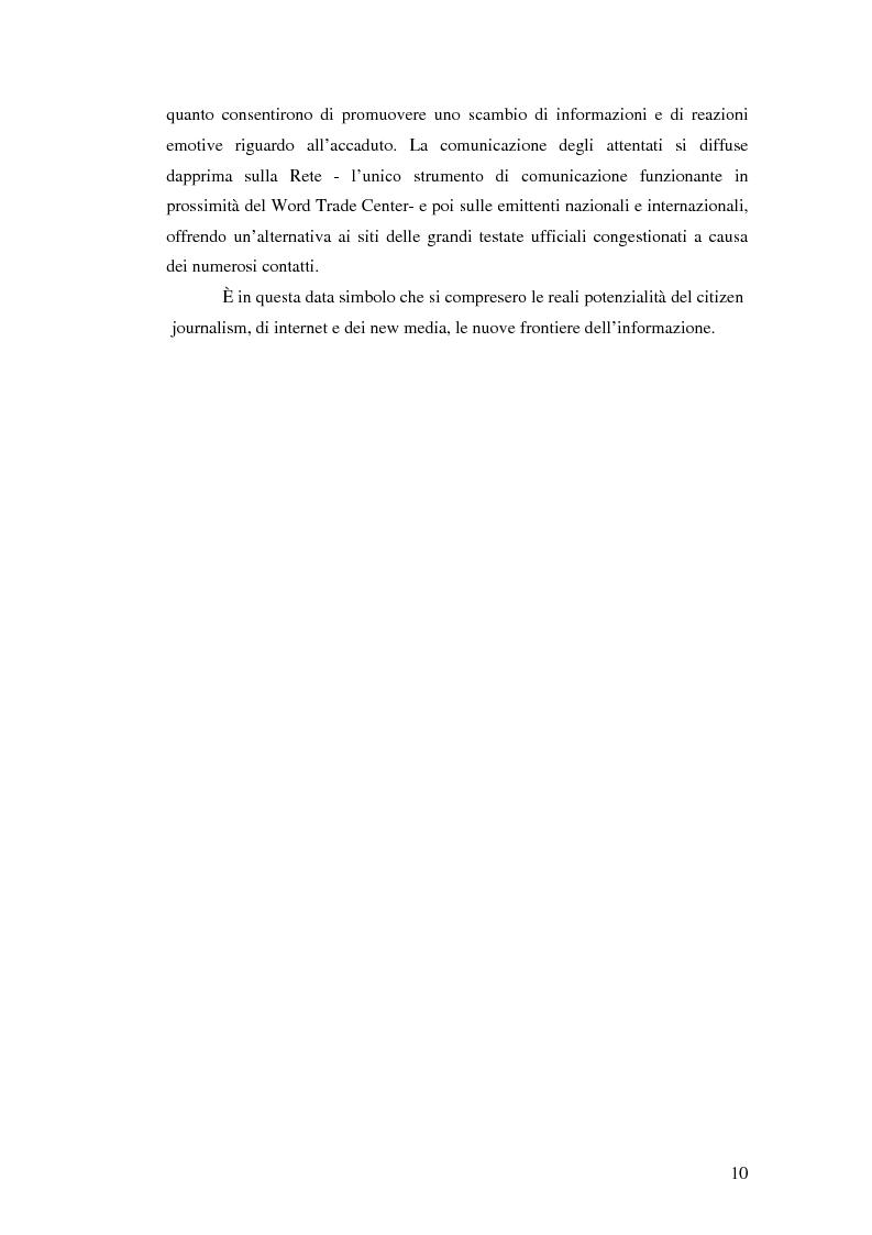 Anteprima della tesi: Terremoto sul Web. L'informazione sulle catastrofi ai tempi del citizen journalism., Pagina 3