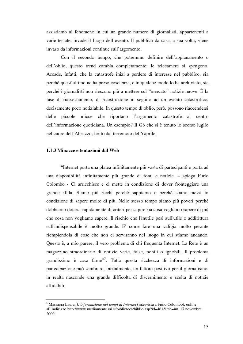 Anteprima della tesi: Terremoto sul Web. L'informazione sulle catastrofi ai tempi del citizen journalism., Pagina 8
