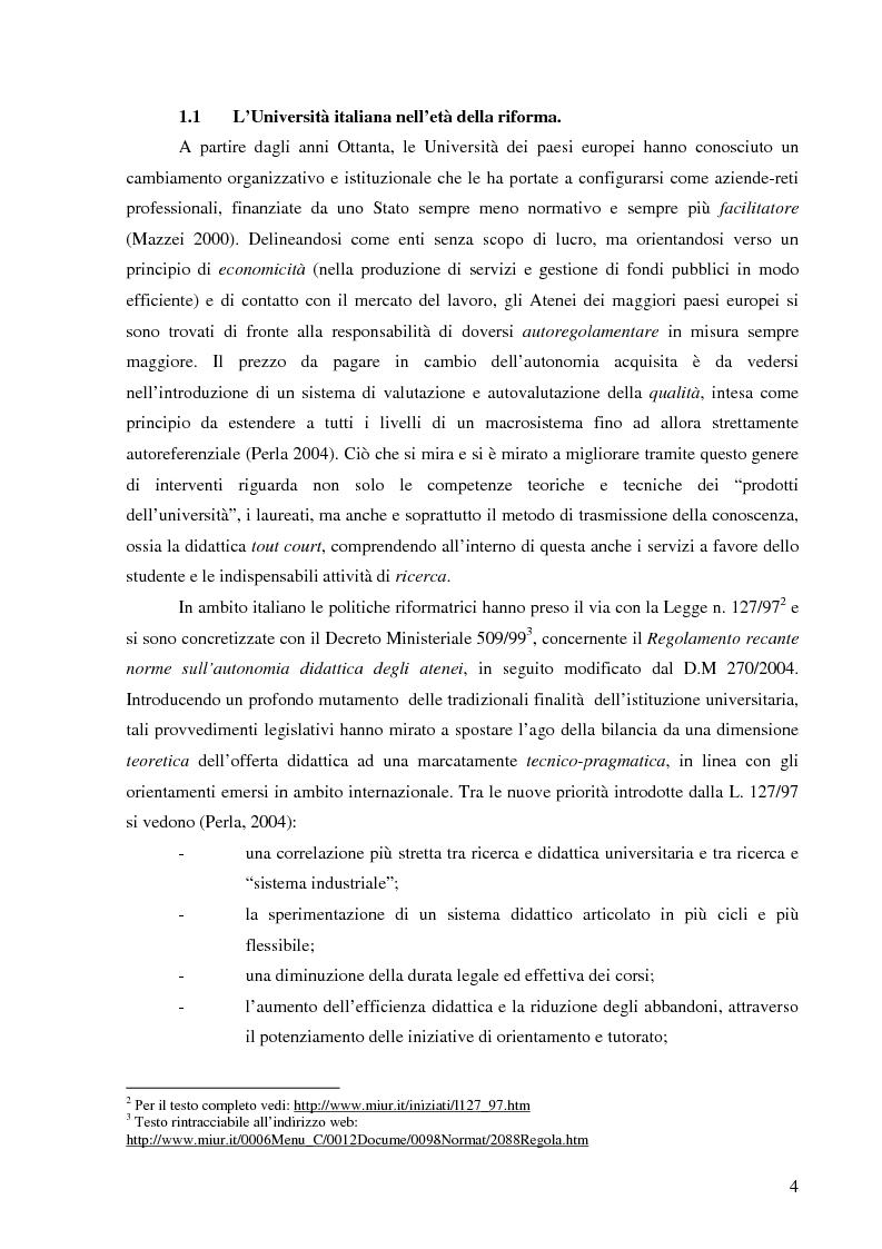 Anteprima della tesi: L'Ateneo che ascolta. Autovalutazione e customer satisfaction nel contesto del Polo universitario bolognese., Pagina 2