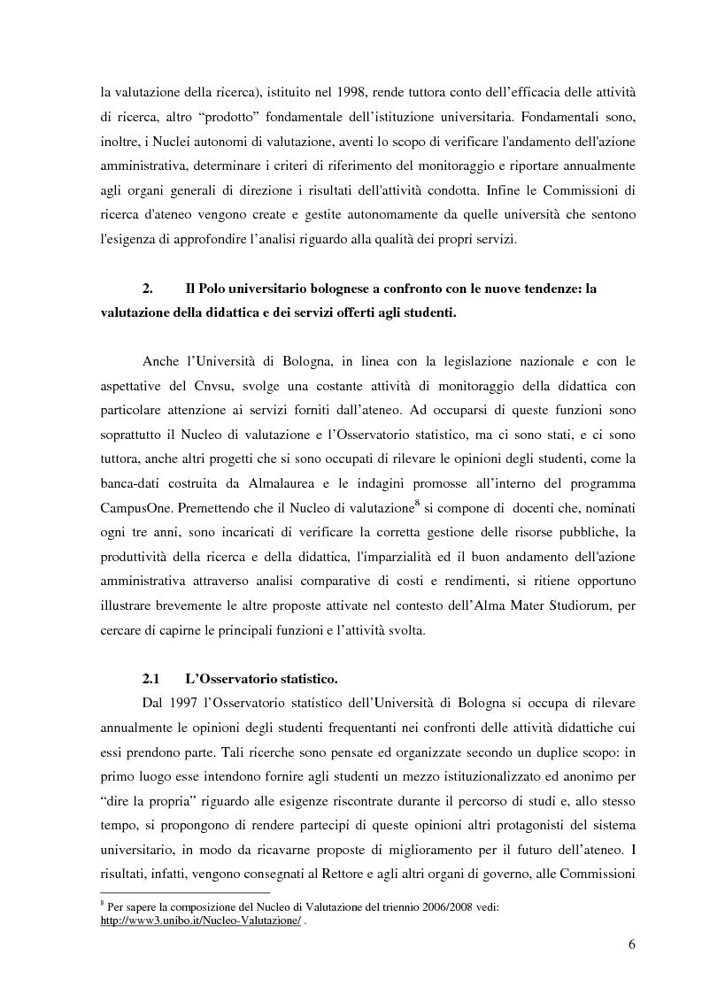 Anteprima della tesi: L'Ateneo che ascolta. Autovalutazione e customer satisfaction nel contesto del Polo universitario bolognese., Pagina 4
