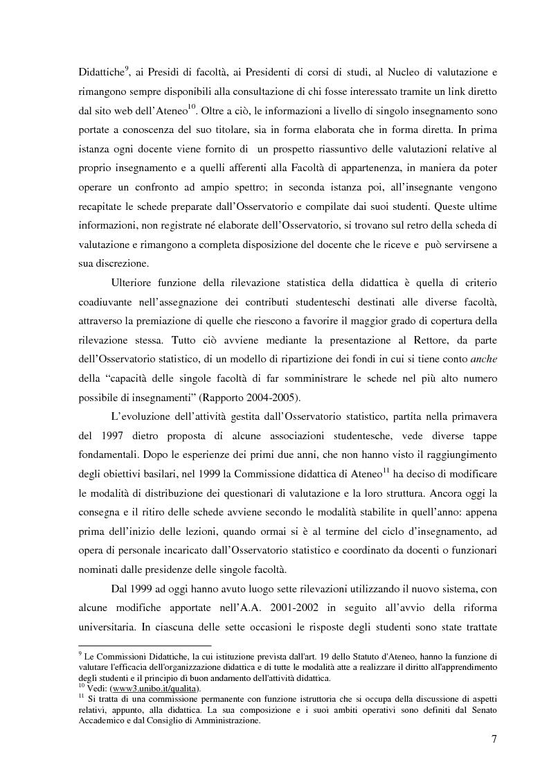 Anteprima della tesi: L'Ateneo che ascolta. Autovalutazione e customer satisfaction nel contesto del Polo universitario bolognese., Pagina 5