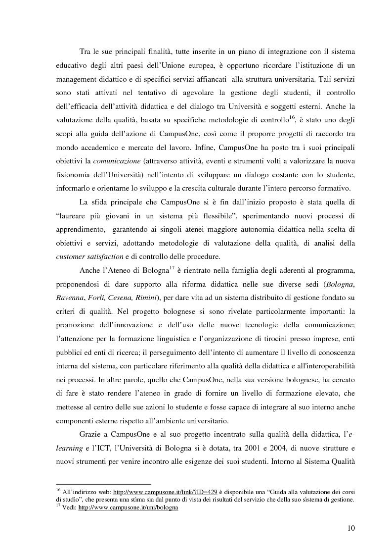 Anteprima della tesi: L'Ateneo che ascolta. Autovalutazione e customer satisfaction nel contesto del Polo universitario bolognese., Pagina 8