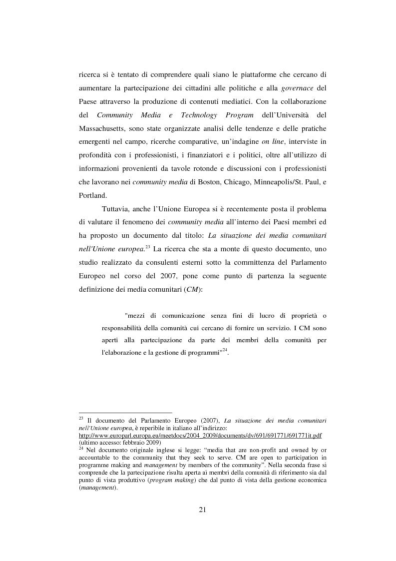 Anteprima della tesi: Student TV. Analisi del fenomeno delle televisioni gestite dagli studenti nel Nord Europa., Pagina 7