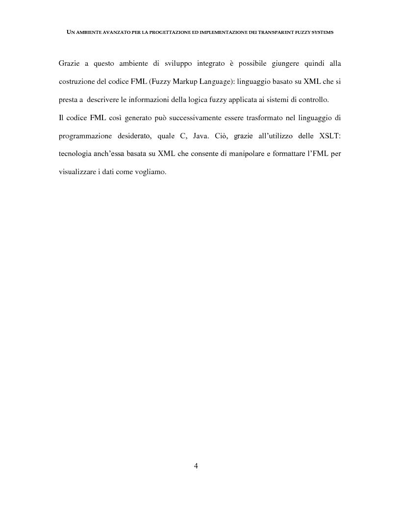 Anteprima della tesi: Un ambiente avanzato per la progettazione ed implementazione dei Transparent Fuzzy Systems, Pagina 4