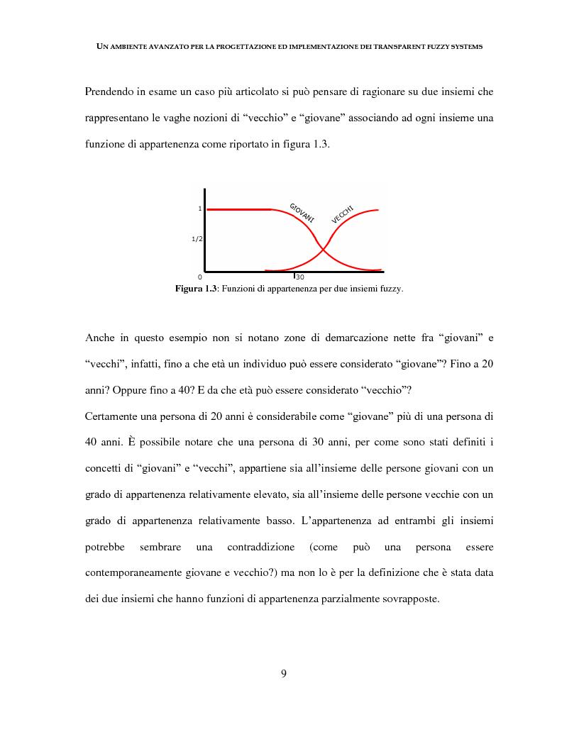 Anteprima della tesi: Un ambiente avanzato per la progettazione ed implementazione dei Transparent Fuzzy Systems, Pagina 9