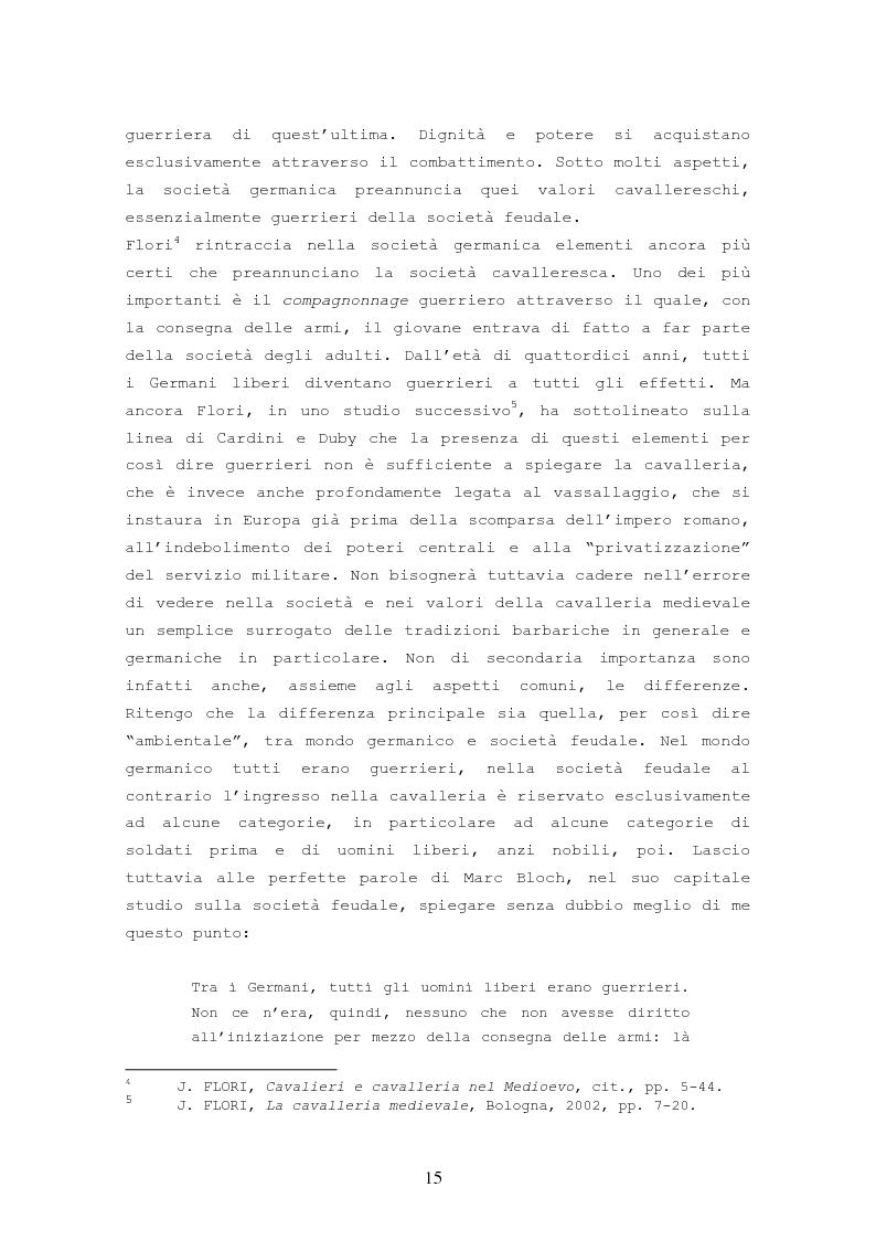 Anteprima della tesi: Origine, Chiusura Sociale e Funzione Della Cavalleria Medievale, Pagina 11
