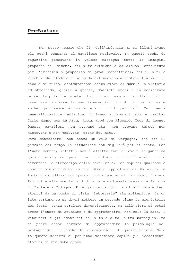 Anteprima della tesi: Origine, Chiusura Sociale e Funzione Della Cavalleria Medievale, Pagina 2