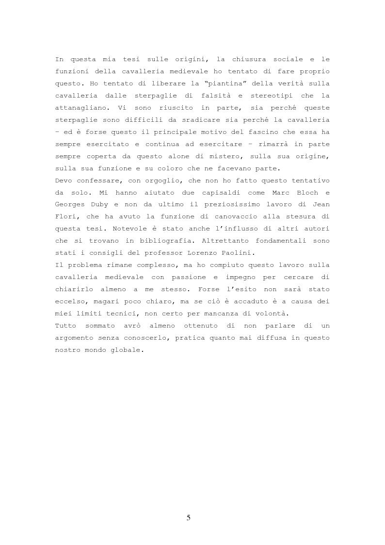 Anteprima della tesi: Origine, Chiusura Sociale e Funzione Della Cavalleria Medievale, Pagina 3