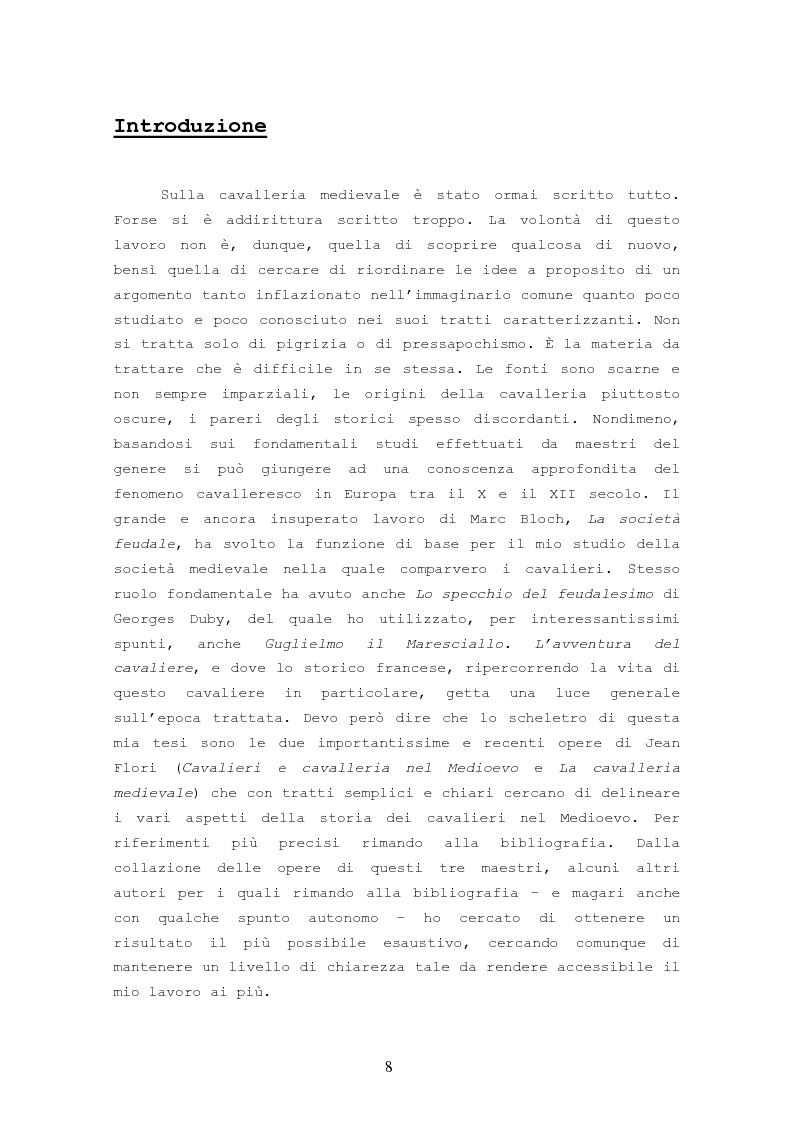 Anteprima della tesi: Origine, Chiusura Sociale e Funzione Della Cavalleria Medievale, Pagina 4