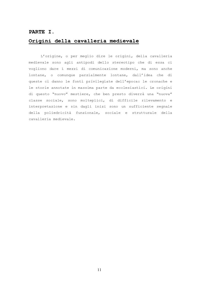 Anteprima della tesi: Origine, Chiusura Sociale e Funzione Della Cavalleria Medievale, Pagina 7