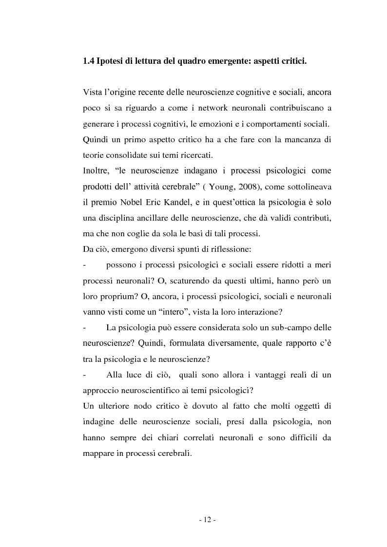 Anteprima della tesi: Il contributo delle neuroscienze e della ricerca psicosociale allo studio delle relazioni umane, Pagina 6