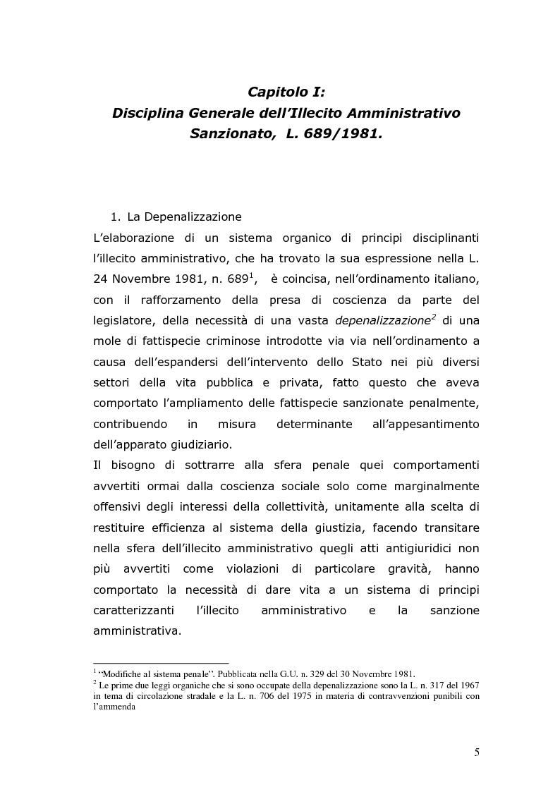 Anteprima della tesi: Sanzioni amministrative e procedimento sanzionatorio nelle materie di competenza della Regione Toscana, Pagina 2