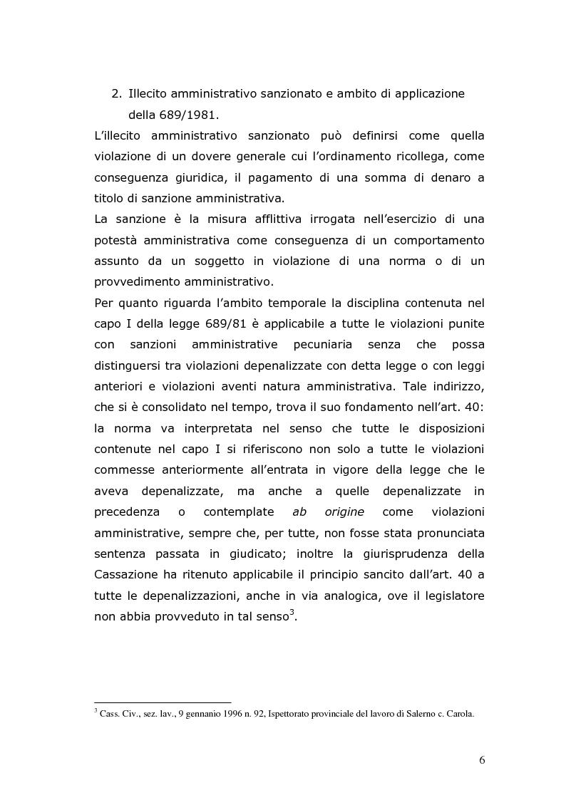 Anteprima della tesi: Sanzioni amministrative e procedimento sanzionatorio nelle materie di competenza della Regione Toscana, Pagina 3
