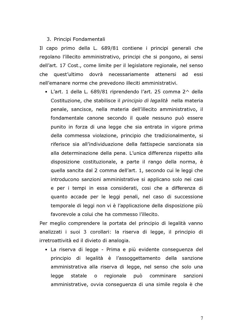 Anteprima della tesi: Sanzioni amministrative e procedimento sanzionatorio nelle materie di competenza della Regione Toscana, Pagina 4