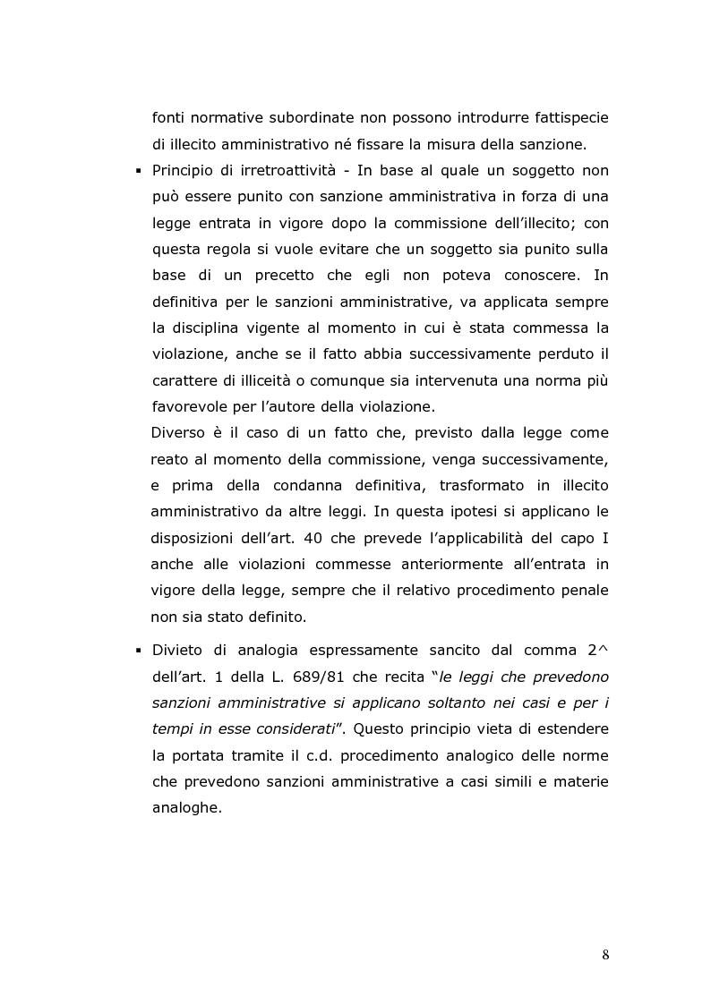 Anteprima della tesi: Sanzioni amministrative e procedimento sanzionatorio nelle materie di competenza della Regione Toscana, Pagina 5