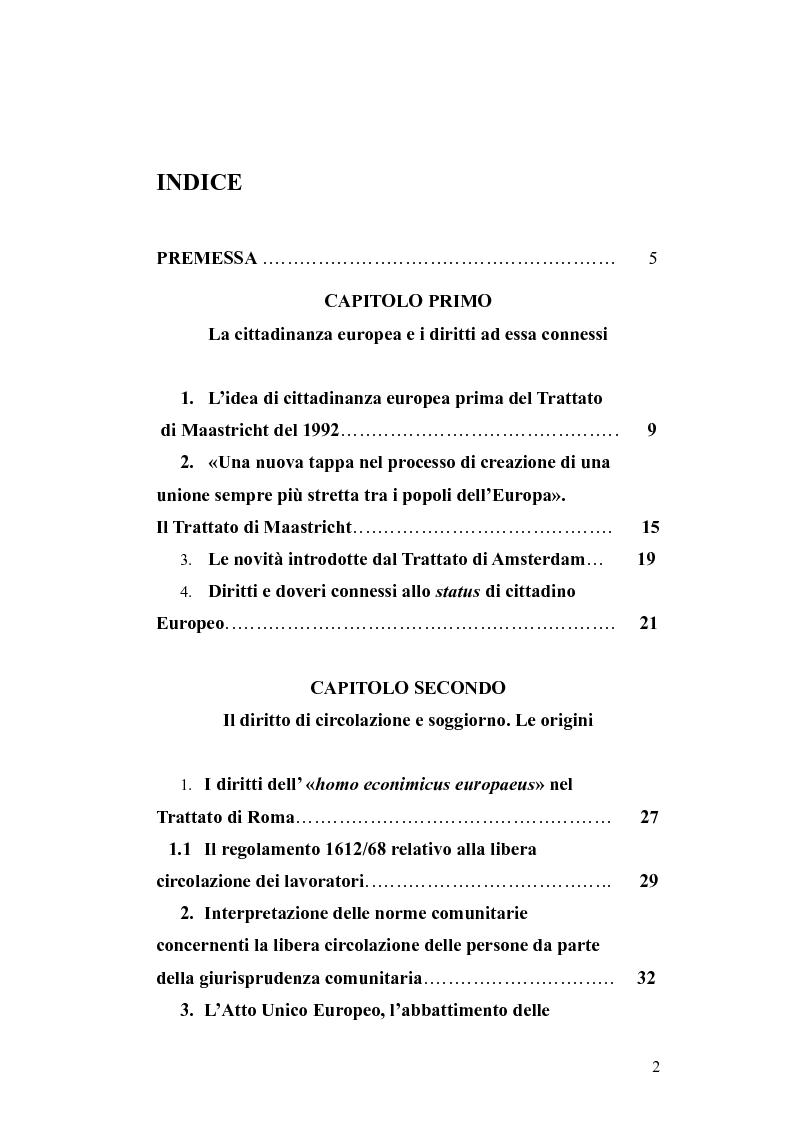 Diritti e doveri connessi allo status di cittadino Europeo ...